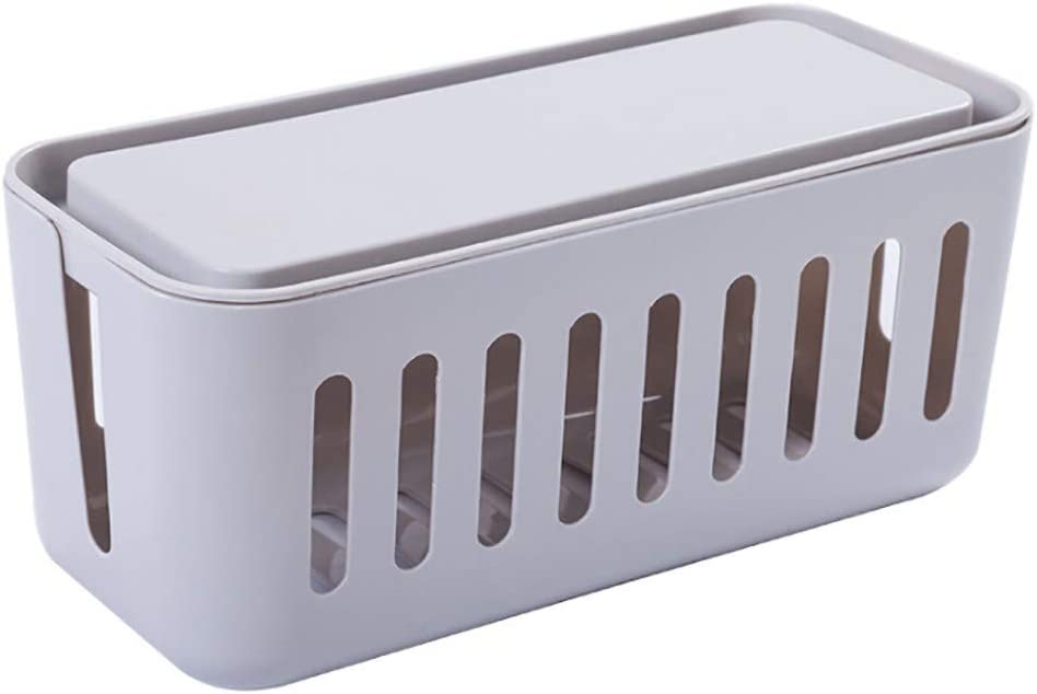 prese grigio alimentazione Menlang Scatola per cavi,Scatola Organizzatore Cavi Elettrici 31X14X14 cm per USB e Multipresa Ordine Per schede protezioni da sovratensioni,Colore della caramella