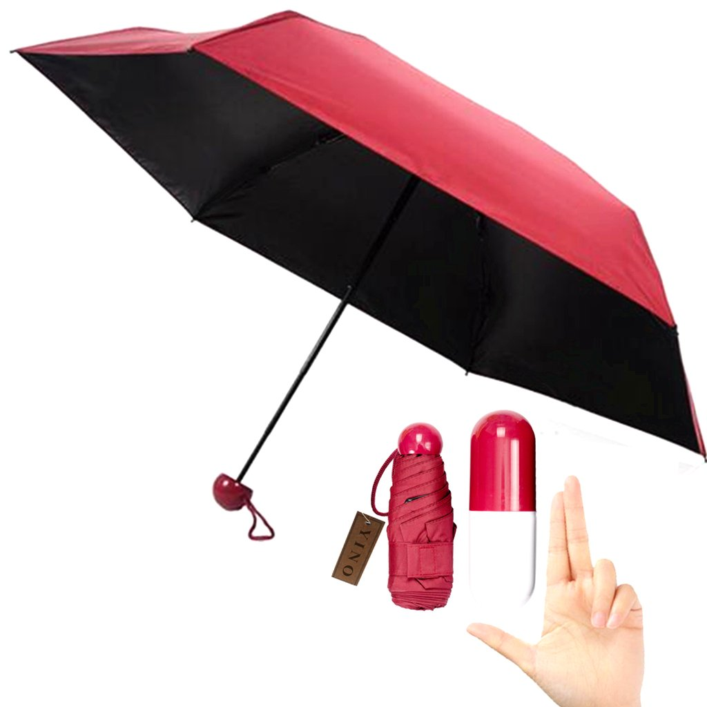 YINO Ultra Lights e Small Mini Umbrella con custodia a capsula sveglia, 5 compatto ombrello a tasca YINO-UM