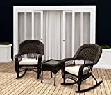 Sol Siesta - 3 Piece Porch Rocking Chair Set - Outdoor Rocking Chairs & Table