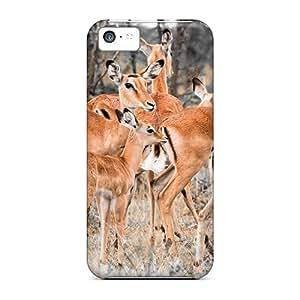 New Design Shatterproof Xpt27137IskM Cases For Iphone 5c (herd Of Deer)