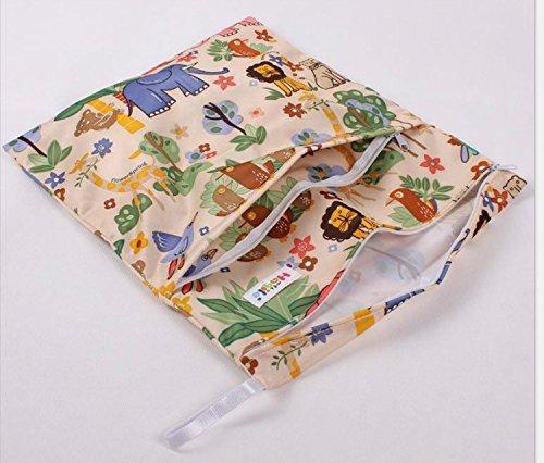 Pemm + 62-Zip lavable bolsa de pañales diseño de elefantes Dog Pattern Talla:36*30cm Animal