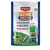 BioAdvanced All-in-One Weed & Feed with Microfeed Action, 12 Lb, 5000 sq. ft. , White