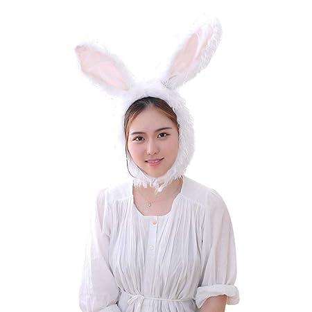 Amosfun Felices Orejas de Conejo de Conejo Orejas de Sombrero ...