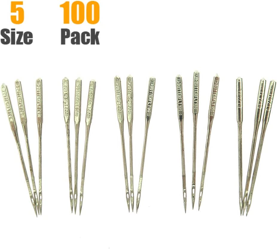 75//11 90//14 Varmax Sizes HAX1 65//9 100 Count Sewing Machine Needles Universal Regular Point for Singer Brother 110//18 Janome 100//16