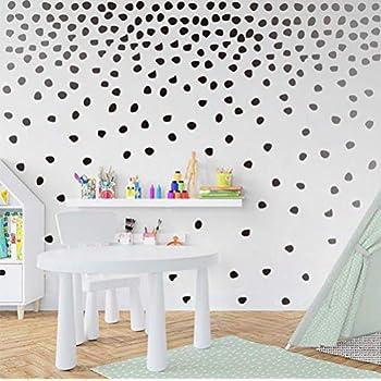 Arttop Black Irregular Dots Wall Decal Minimalist Geometric Decal For Kids  Bedroom Classroom Decoration(240pcs Dots Sticker)