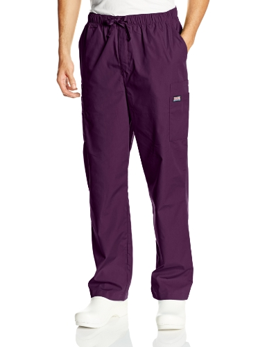 Cherokee Men's Originals Cargo Scrubs Pant, Eggplant, Medium