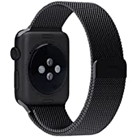 Apple Watch Band, Penom Fully Magnetic Closure Clasp Mesh Loop Milanese Stainless Steel Bracelet Strap for Apple...