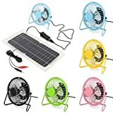 4 Inch 360 Degrees Adjustable Black Metal Mini USB Summer Cool Cooling Fan Color ( Yellow )