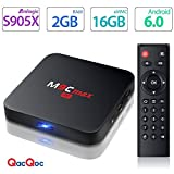 [Pure Version] QacQoc M9C max Android 6.0 Marshmallow Amlogic S905X Chipset [2G DDR3/16G eMMC] 4K android tv box Unlocked 2.4G WIFI Smart Media Player