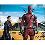 Deadpool (2016) 8 Inch x 10 Inch Photo Ryan Reynolds in Front of Taxi Pose 2 kn