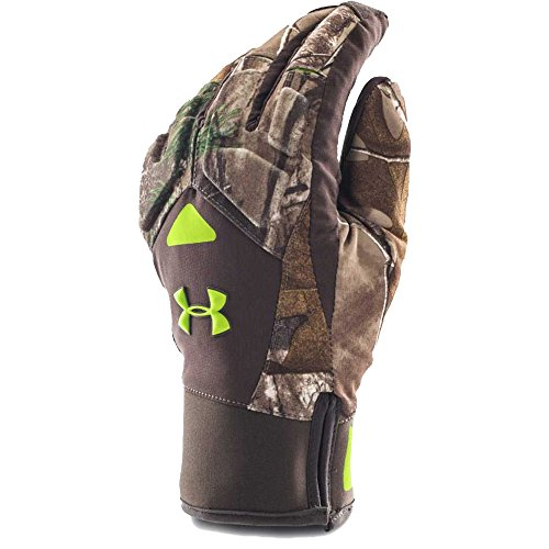 Under Armour Men's ColdGear Infrared Scent Control 2.0 Primer Gloves, Realtree Ap-Xtra (946), - Armour Gloves Under Hunting