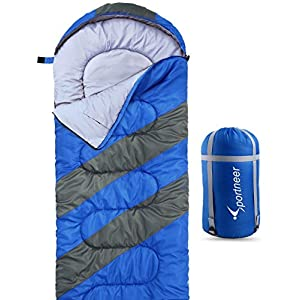 Sportneer Sleeping Bag for 4 Season, Portable Waterproof Lightweight Sleeping Bag with Compression Sack for Camping, Hiking, Travelling