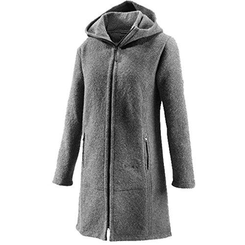 Muflón Jana para mujer-lana-capa corta gris