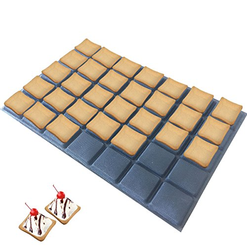 Bluedrop Silicone Tartlets Bread Molds Non Stick Panini Molds For Tarts Tartlets Choux Rectangle Bread Baking Sheets