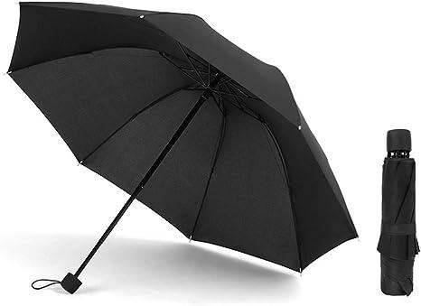 HITSLAM Black Umbrella Windproof Automatic Compact Travel Umbrella with Teflon Coating and Waterproof Fabrics
