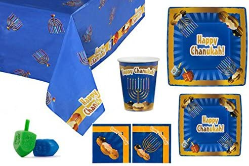 Blue Sky 20 Count Happy Chanukah Square Paper Plates 7.5-Inch