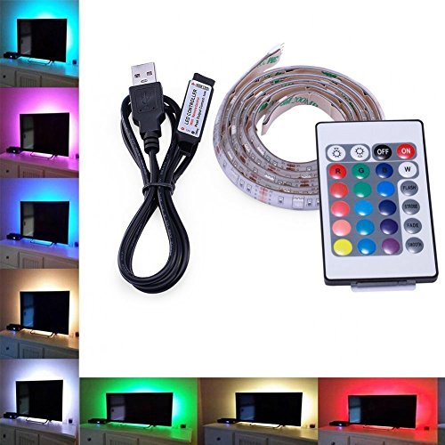 LED TV USB Backlight Kit Computer RGB LED Light Strip TV Background Lights - Glasses Test 3d New