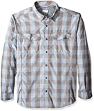 Columbia Men's Silver Ridge Plaid Long Sleeve Shirt, Steel Heathered Plaid, 1X