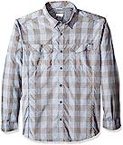 Columbia Men's Silver Ridge Plaid Long Sleeve Shirt, Steel Heathered Plaid, 4X/Tall