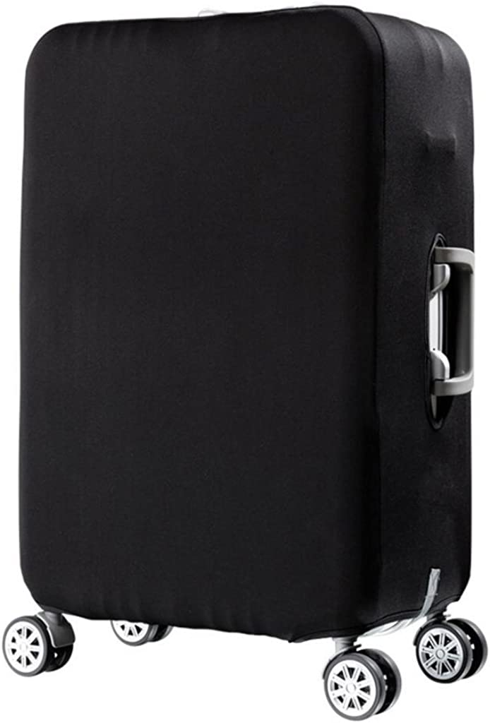 Black Luggage Cover Spandex Elastic Water Resistant Travel Suitcase Cover Protector