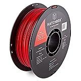 HATCHBOX 3D PLA-1KG3.00-RED PLA 3D Printer Filament, Dimensional Accuracy +/- 0.03 mm, 1 kg Spool, 3.00 mm, Red