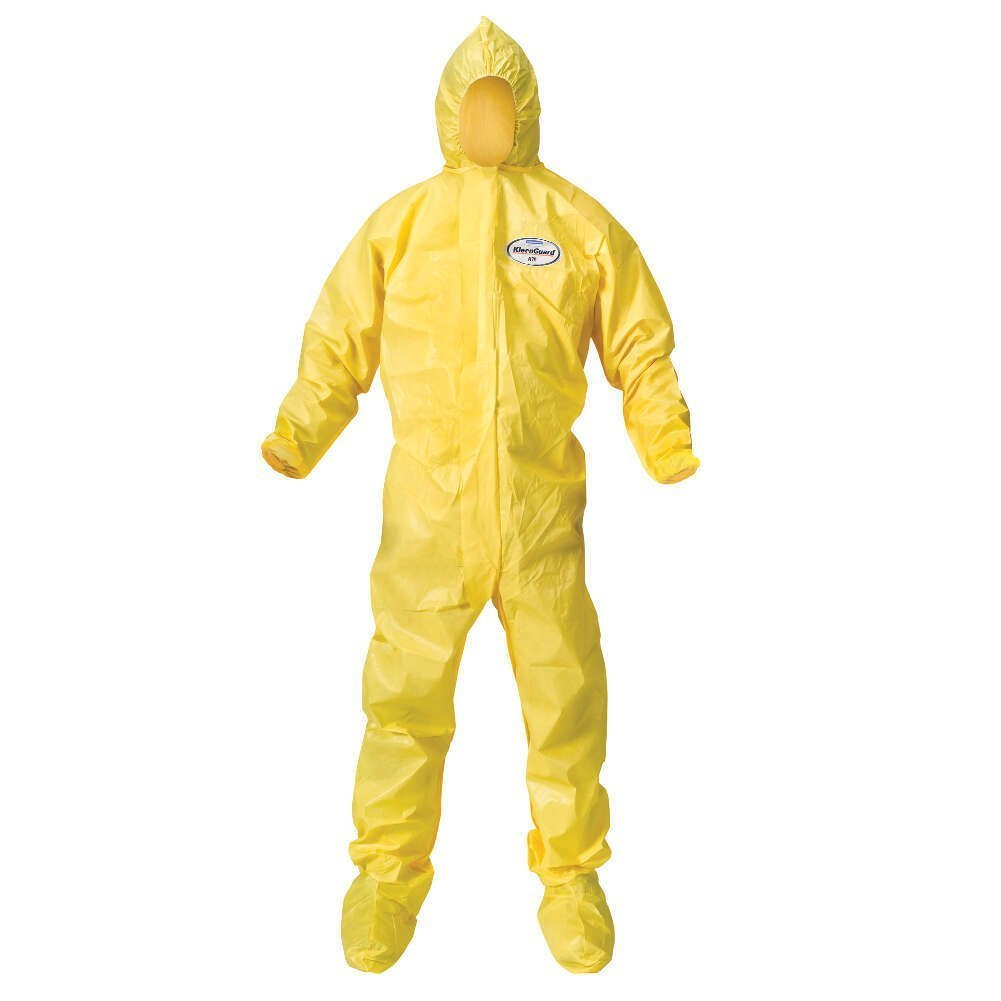 Kimberly-Clark 00684 Yellow A70 Chemical Spray Protection Coverall, X-Large (Case of 12)