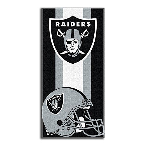 The Northwest Company Officially Licensed NFL Oakland Raiders Zone Read Beach Towel, 30