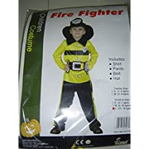 RoarSoar Pretend Play Fireman Costume (Age 1 to 3), Small, One Color