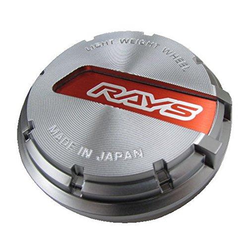 【RAYS(レイズ)】 センターキャップセット グラムライツ レッド/シルバー 4個セット GRCAP-RDSL4 B01MTBIJ9G