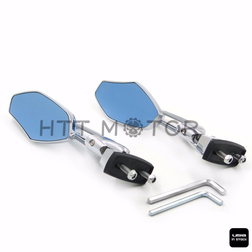Chrome Adjustable Base Mirrors Rearview For Suzuki Hayabusa GSX1300R 99-12 Motorcycle