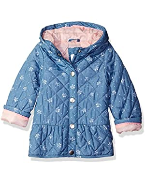 Baby Girls' Infant Diamond Quilted Peplum Midweight Jacket