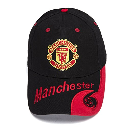 United Manchester Hat - FOOT-ACC Manchester United Cap Soccer Cap Hat New Season - Embroidered Authentic Black Baseball Cap