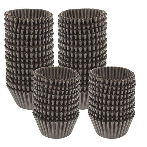 (Dreamtop 1000 Pcs Mini Paper Baking Cups Cupcake Liners Chocolate Paper Candy Cups Muffin Wrappers, Brown)