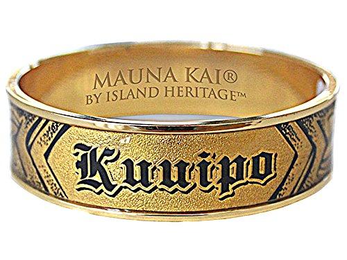 Heirloom Bracelets Gold (HAWAIIAN KUUIPO SWEETHEART HEIRLOOM STYLE ENGRAVED GOLD COLORED BANGLE BRACELET)