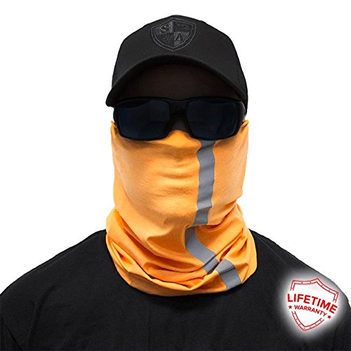 Salt Armour Electric Orange Face Shield Sun Mask Balaclava Neck Gaiter Fishing Hunting by Unknown