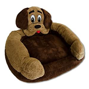 Smart Pet Love Momma Snuggle Bed for Dogs, Brown Mutt