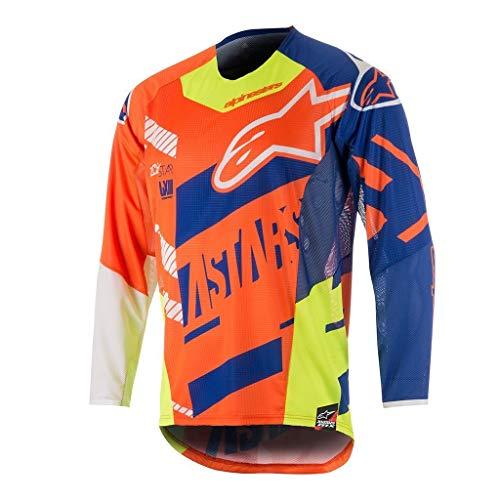 Blu Alpinestars Arancione Maglia Bianco 2018 Motocross Screamer Techstar SYZ1wY