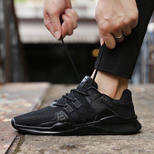 XIDISO Woven Laufschuhe Breathable Fashion Sneakers Leichte Athletische Wanderschuhe Für Männer Frauen Schwarz