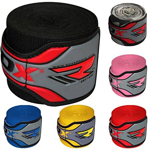 Authentic RDX Pro Boxbandagen Bandagen Schwarz, Rot, Blau, Pink, Boxhandschuhe, MMA UFC