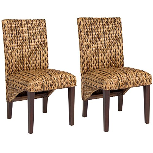 Best Choice Products Elegant Set of 2 Hand Woven Seagrass Dining Side Chair Home