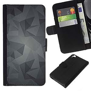 Planetar® Modelo colorido cuero carpeta tirón caso cubierta piel Holster Funda protección Para HTC Desire 820 ( Pattern Grey Gray Android )