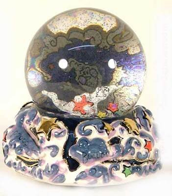 Heather Goldminc Boo Globe with Ghosts for 2003 - Blue Sky38; Clayworks