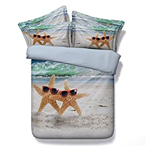 51heGxECszL._SS300_ 50+ Starfish Bedding Sets and Starfish Quilt Sets