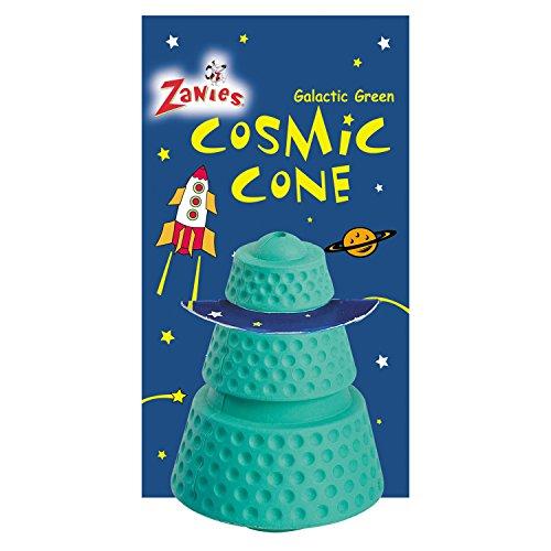 Zanies Hard Rubber Cosmic Cones Dog Toys, Green