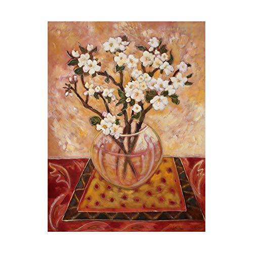 Trademark Fine Art Apple Blossom Striped by Lorraine Platt, 24x32-Inch