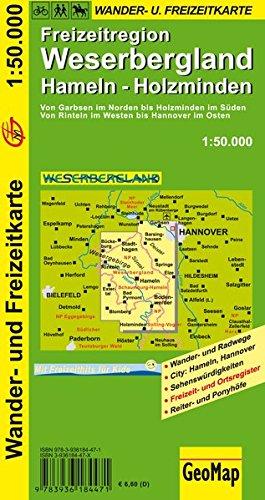 Weserbergland 1 50 000 Hameln Holzminden Wanderkarte Geo Map