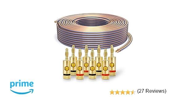 PureLink SP010-050 Cable de altavoz 2 x 2.5mm² (99.9% OFC cable de ...