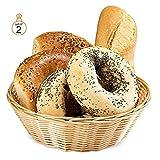 ChefGiant Basket, Round Woven Bread Roll Baskets, Food Serving Baskets, Basket, Restaurant Quality, Polypropylene Material 8