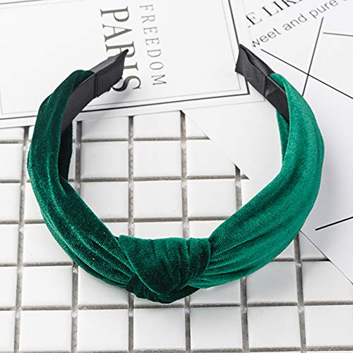 OHPA Shimmer Velvet Twist Knot Diadema Elástica Llanura ...