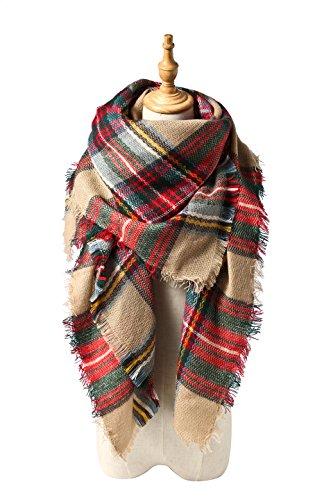 Spring Fever Stylish Warm Blanket Scarf Gorgeous Wrap Shawl B Brown Mix